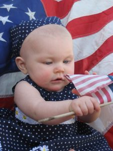 baby and flag